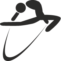 Силуэт акробатки с лентой