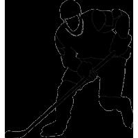 Хоккеист делает подачу
