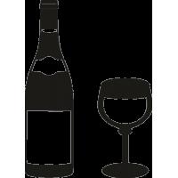 Бутылка шампанского и бокал