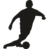 Футболист ударяющий по мячу 3