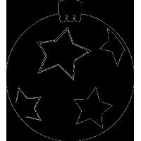 Игрушка для елки с рисунками звезд 3