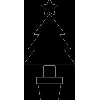 Рождественская елка в горше
