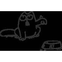 Кот Саймона лючок бензобака справа