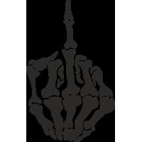 Средний палец скелета