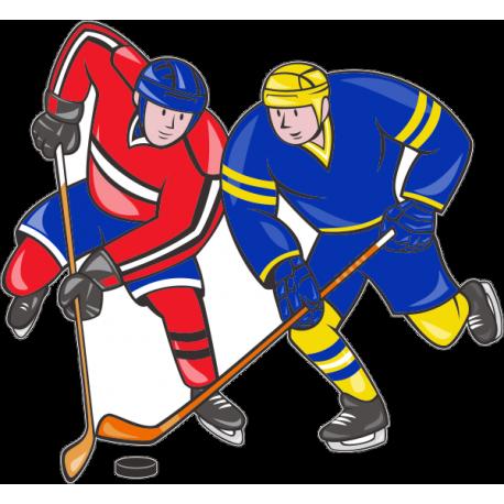Рисунок на хоккейном льду