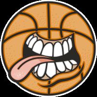 Баскетбольный мяч показывающий язык
