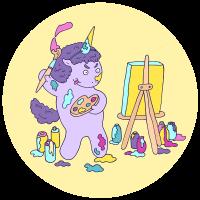 Единорог художник