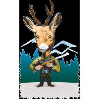 Охотник с головой оленя