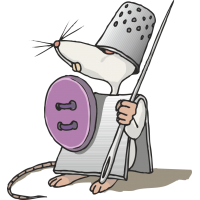 Мышь в образе рыцаря