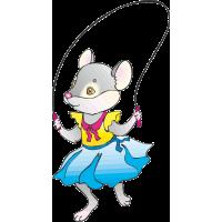 Мышь скачет на скакалке
