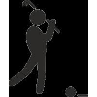 Силуэт человека, играющего в гольф