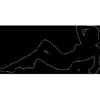 Обнаженная девушка, лежащая на спине