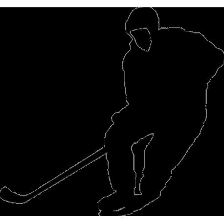 Ударяющий по шайбе хоккеист