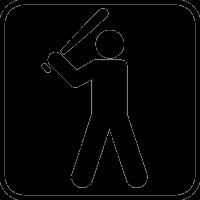 Мужчина с поднятой бейсбольной битой