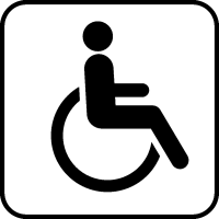 Международный символ инвалида-колясочника