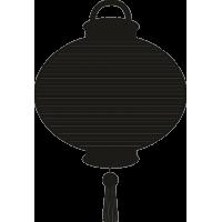 Китайская воздушный шар в полоску