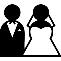 Жених и Невеста с фатой