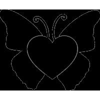 Сердце в виде бабочки