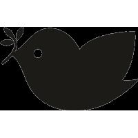 Птица с веткой в клюве