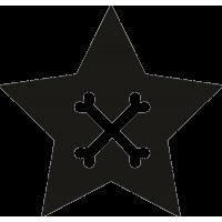 Рисунок костей на звезде