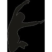 Девушка в прыжке с поднятыми руками