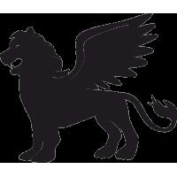 Татуировка Лев с раскрытыми Крыльями
