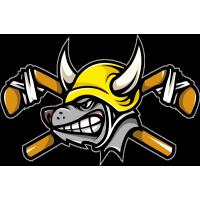 Волк - хоккеист в рогатом шлеме