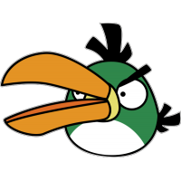 Птица с большим клювом из Angry Birds
