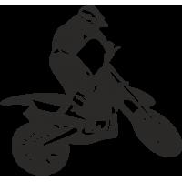 Мотоциклист на мотоцикле