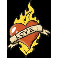 Сердце с надписью LOVE - ЛЮБОВЬ