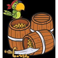 Бочки с золотом, попугай и кинжал