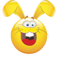 Смайлик кролик