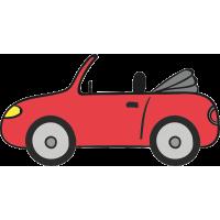 Красный кабриолет