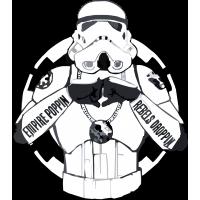 Имперский штурмовик с надписью Empire poppin rebels droppin
