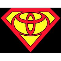 Логотип Toyota (Тоета) в стиле супермена