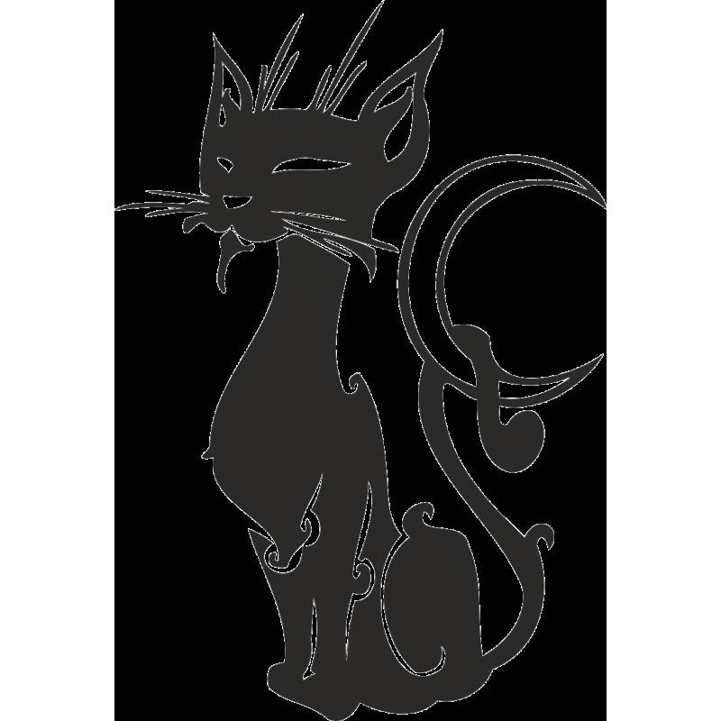черный кот картинки на стену