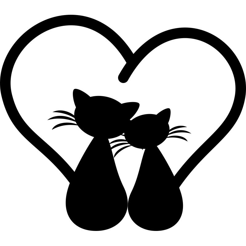 Влюбленные кошки картинки рисованные, книги