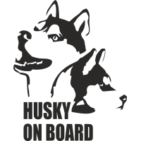 Husky on board - Хаски на борту