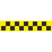 Шашечки для такси желто-черные
