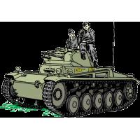 Немецкие солдаты на легком танке