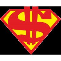 Доллар в стиле супермена