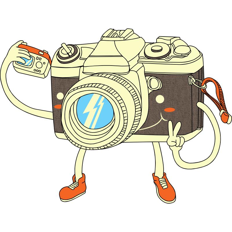 Картинка смешной фотоаппарат