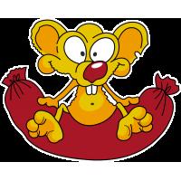 Мышонок на сосиске