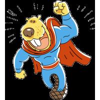 Бобер в стиле супермена
