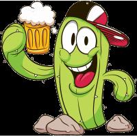 Кактус пьет пиво!