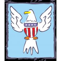 Орел с символикой США