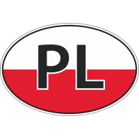 Флаг Польши в овале