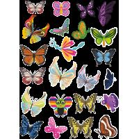 Стикерпак - набор наклеек  бабочки