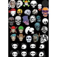 Стикерпак - набор наклеек черепов