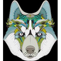 Волк Эзотерический Расписной
